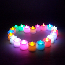 24pcs/set LED Electronic Candle Light Tea Candles Home Decoration Romance Atmosphere Lamp For Gift CA2484