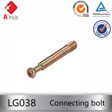 LG038 iron connecting bolt furniture cam lock fasteners for cabinet