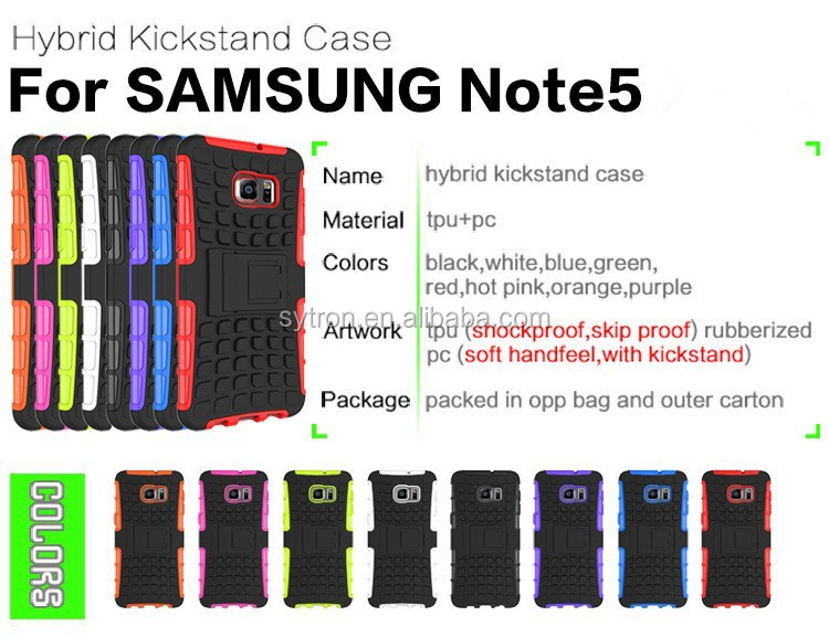 Top selling popular hybrid combo case kickstand case for samsung galaxy note3 note5