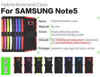 Top selling popular hybrid combo case kickstand case for samsung galaxy note 3
