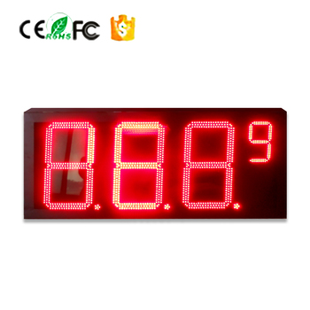High brightness,low cost,24 inch led gas station price digital panel/sign board