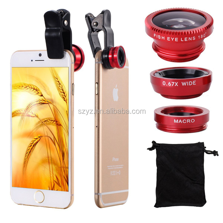 YZTEK Newest Design Clip Camera Lens for Samsung Galaxy j2 j5 j7 s7 iPhone 6S 198 Super Fisheye Lens