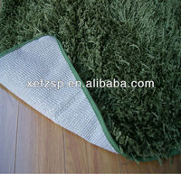 high pile microfiber polyester carpet TPR backing