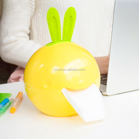 rabbit shape tissue box colorful round paper holder cute appearance paper holder