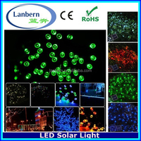 2016 hot wedding party IP44 waterproof outdoor 12M 100leds solar fairy Christmas street LED Light Decoration