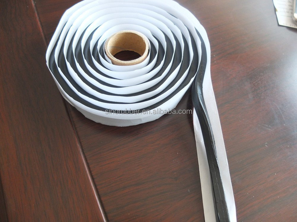 Butyl adhesive sealant tape for auto windshield snake glue