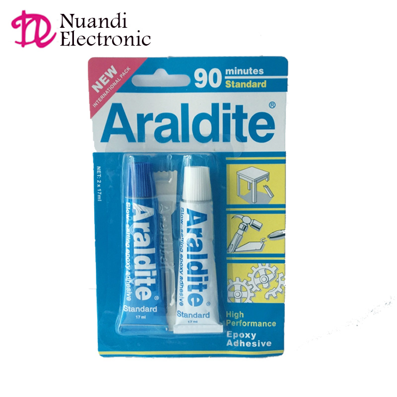 HIGH Performance Epoxy Adhesive Araldite <strong>glue</strong> 90 minutes Standard 17ml *2