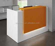 solid surface front desk counter, front desk equipment,acrylic solid surface Hotel reception desk