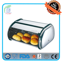 family stainless steel bread stoage container for sale decorative bread stoage container