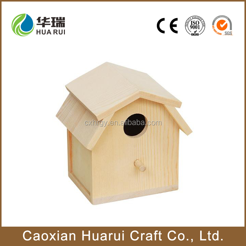 wooden cheap decorative painting handmade christmas bird houses