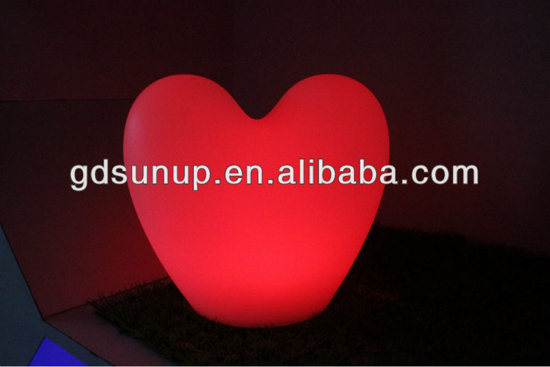 PE material LED decorative light /LED heart lamp/remote control