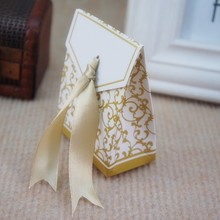 hot sell laser cut wedding hollow favor party supply butterfly paper candy box for wholesale