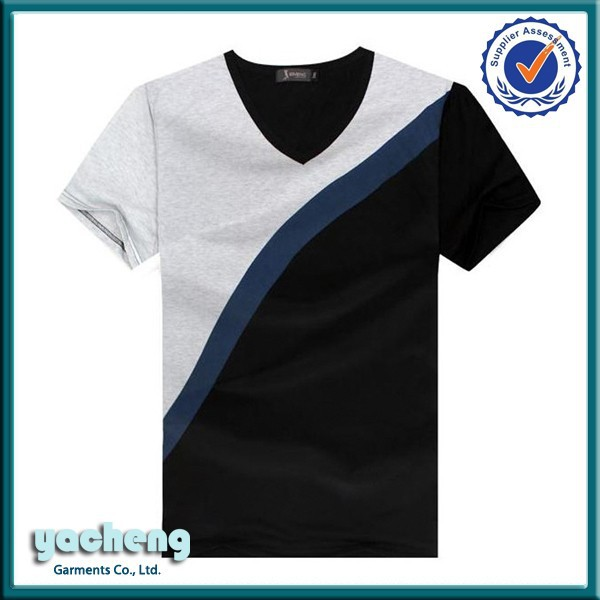 Splicing Design Latest T Shirt Designs For Men/office T Shirt ...