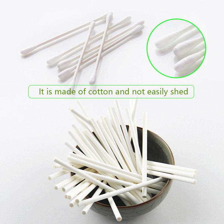 extra long wooden q tips ear wax cotton swabs