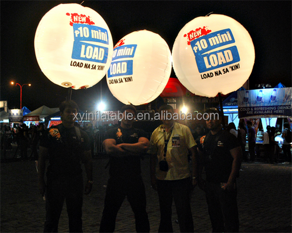 walking portable Inflatable balls with lighting backpack balloon