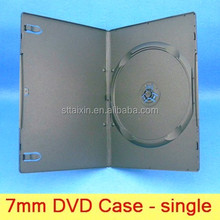 7mm single/double PP black dvd box to dubai