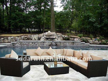 Used Hotel Furniture Rattan Wicker Sectional Sofa For Sale