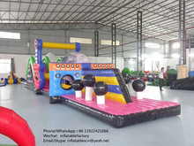 PK commercial grade adults inflatable obstacle course for water game