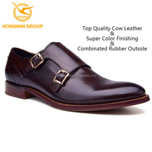 Custom monk strap soft genuine leather Western style mens dress shoes , hot sale china wholesale man dress shoe