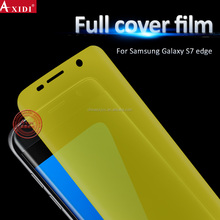 Ultra clear full cover screen protector for Samsung galaxy s7 edge transparent protective phone film free sample
