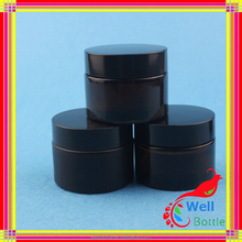 5ml 40ml High Quality Small Transparent Glass Cosmetics Jar and glass Lid