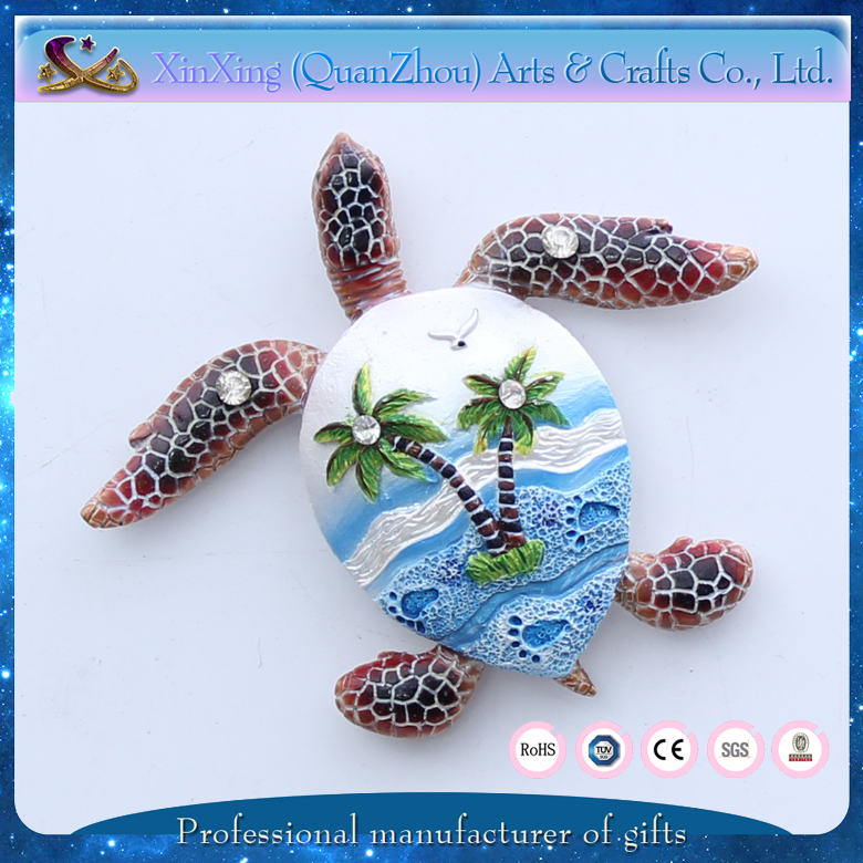 colorful pretty polyresin customized wholesale fridge magnet souvenir