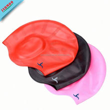 Durable Food-Grade Silicone Ear Proction Swimming Cap