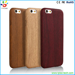 2016 Hot new product wholesale real wood phone case for iphone 6