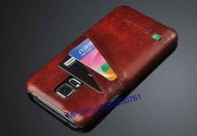 Custom Logo Genuine Leather Cover Cellphone Case For Samsung Galaxy Note /for Galaxy S4/S5/S6 With Credit Card Slots
