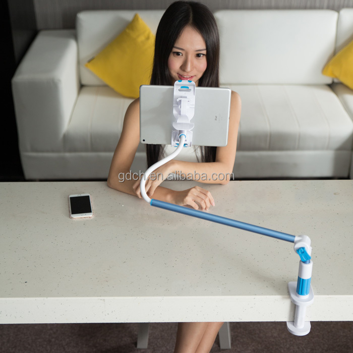 Easy to adjust portable rotating stand holder for tablet pc