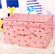 Multifunction Beauty Flower New Folding non-woven fabrics storage box with lid