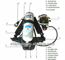 positive pressure Firefighter portable Air Breathing device respirator