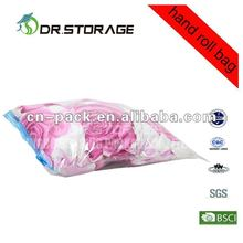 roll up vacuum compressed bag for clothes packing