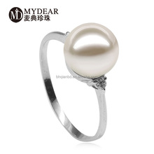 European And American 925 silver pearl ring design as require/jewelry accessory
