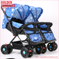 China manufacturer JINBAO good twins stroller/baby carriage/pram/gocart/pushchair