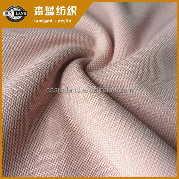 supply super poly 150D knitted pique fabric for t-shirt