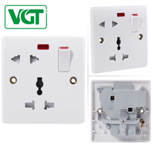 CE 250V BS 1 gang 13 amp multi-function euro switch and socket