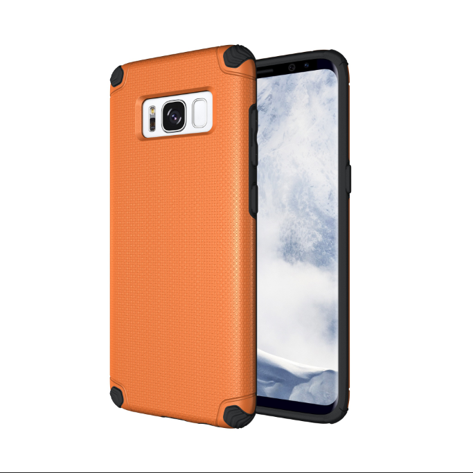 Brand new hidden iron shockproof skidproof mobile phone cover case for Samsung Galaxy S8
