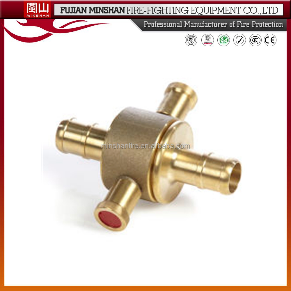 Brass quick disconnect hose coupling