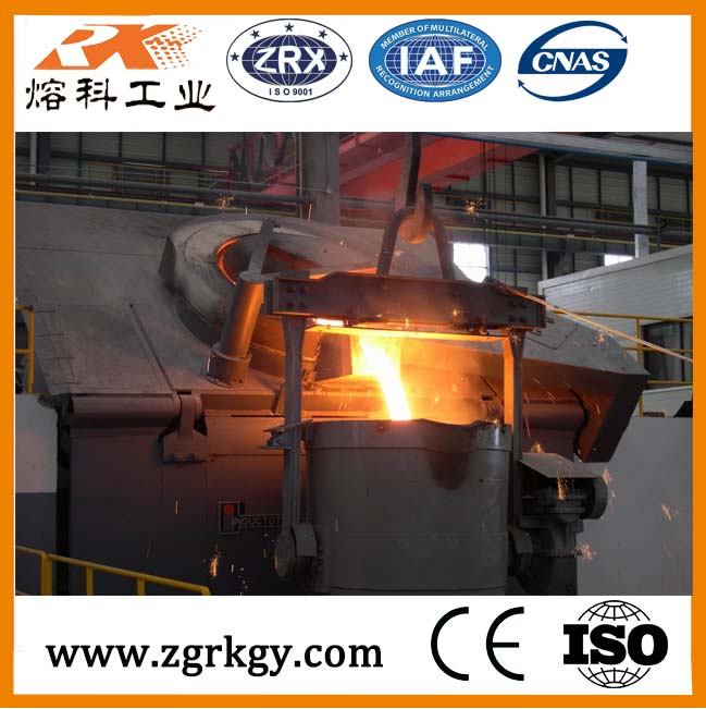 China induction metal melting oven for steel/iron/copper/aluminum with best price