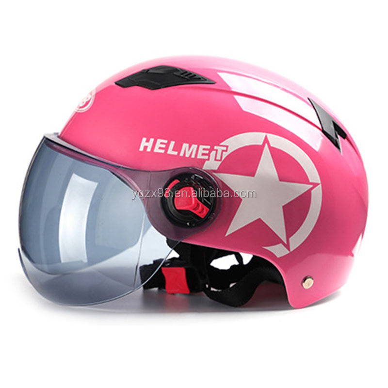 Fashionable cheap half face helmet motorcycle with all colour
