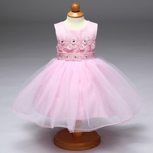 2017 Baby Girl Party Dress Children Frocks Designs Handmade Embroidery With Diamond Flower Girl Dress LH5093