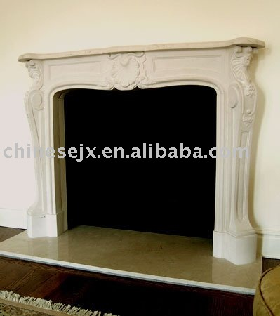 Natural fireplace mantel (fire place)