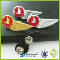 High quality iron stamped Pilot Wings Badge/ genesis wing volunteer badge