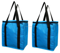Customized insulated shopping cooler zippered to lid grocery bag lunch bag