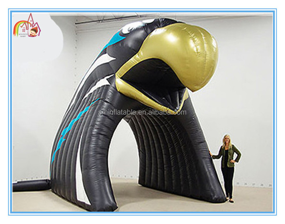 Factory price giant inflatable black eagle tent,inflatable eagle tunnel,inflatable tunnel tent for sale