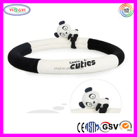 D880 Animal Panda Steering Wheel Cover Velcro Close 38cm Plush Steering Wheel Cover