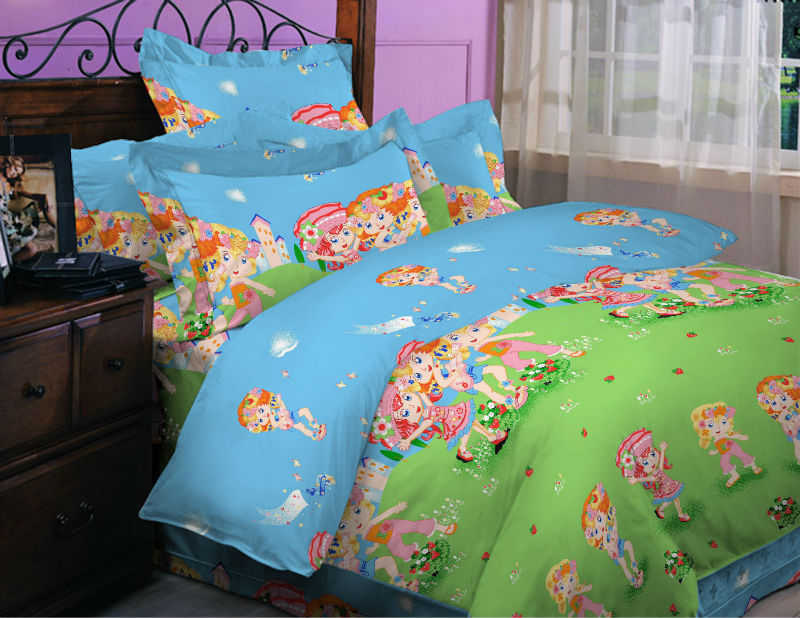 100% polyester bedding set with cartoon design