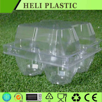Custom clear PET plastic packaging for 4 eggs