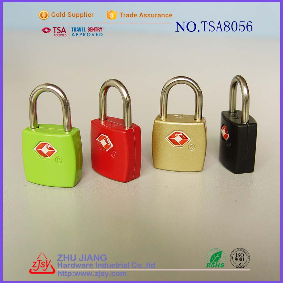 Factory License Approved TSA lock travel luggage padlock with key